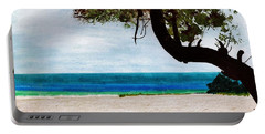 Portable Battery Charger featuring the drawing Beach Side by D Hackett