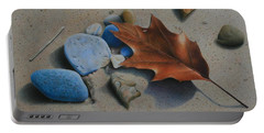 Beach Still Life II Portable Battery Charger by Pamela Clements