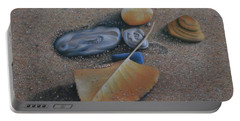 Beach Still Life IIi Portable Battery Charger by Pamela Clements