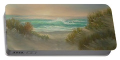 Cape Cod Beach Sunset Dunes Print  Portable Battery Charger