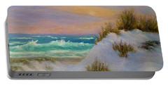 Beach Sunset Paintings Portable Battery Charger