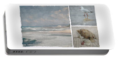 Beach Triptych 1 Portable Battery Charger