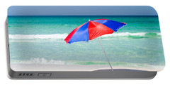 Beach Umbrella Portable Battery Charger by Shelby  Young