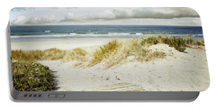 Beach View Portable Battery Charger by Les Cunliffe