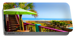 Beach View Of The Ocean By Jan Marvin Studios Portable Battery Charger