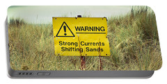 Beach Warning Sign Portable Battery Charger
