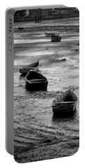 Portable Battery Charger featuring the photograph Beached Boats by Gary Slawsky