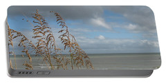Portable Battery Charger featuring the photograph Beachview With Seaoat  by Christiane Schulze Art And Photography