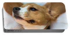 Beagles Dreams Portable Battery Charger by Eti Reid