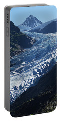 Portable Battery Charger featuring the photograph Bear Glacier by Stanza Widen