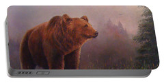 Bear In The Mist Portable Battery Charger