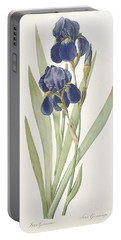 Bearded Iris Portable Battery Charger by Pierre Joseph Redoute