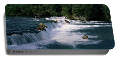 Bears Fish Brooks Fall Katmai Ak Portable Battery Charger by Panoramic Images