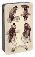 Bears On Bicycles Portable Battery Charger by Eric Fan