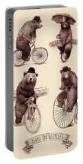 Bears On Bicycles Portable Battery Charger
