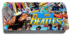 Beatles For Summer Portable Battery Charger by Mo T