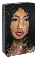 Portable Battery Charger featuring the painting Beautiful Ambiguity by Malinda  Prudhomme