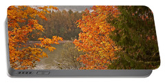 Portable Battery Charger featuring the photograph Beautiful Autumn Gold Art Prints by Valerie Garner