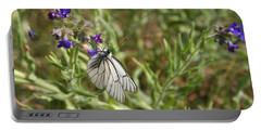 Beautiful Butterfly In Vegetation Portable Battery Charger