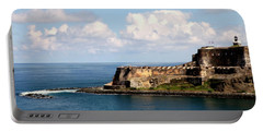 Portable Battery Charger featuring the photograph Beautiful El Morro by Karen Wiles