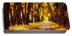 Beautiful Fall Day In Nebraska Portable Battery Charger by Julie Hamilton