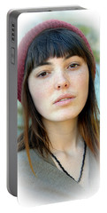 Portable Battery Charger featuring the photograph Beautiful Freckle Faced Model Fade Out Version by Jim Fitzpatrick