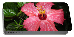 Portable Battery Charger featuring the digital art Beautiful Hibiscus by Oksana Semenchenko