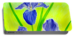 Beautiful Iris Flowers Card Portable Battery Charger