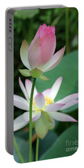 Beautiful Lotus Blooming Portable Battery Charger