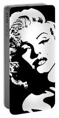 Beautiful Marilyn Monroe Original Acrylic Painting Portable Battery Charger by Georgeta  Blanaru