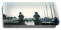 Portable Battery Charger featuring the photograph Beautiful Marina Entrance by Kay Novy