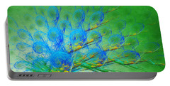 Beautiful Peacock Abstract 1 Portable Battery Charger by Andee Design