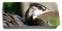Beautiful Peahen Portable Battery Charger