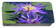 Beautiful Purple Lilies Portable Battery Charger by Chrisann Ellis
