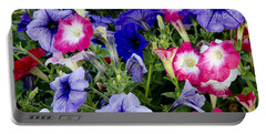 Portable Battery Charger featuring the photograph Beautiful Summer Annuals by Wilma  Birdwell