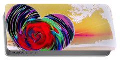 Portable Battery Charger featuring the digital art Beautiful Views Exist by Catherine Lott