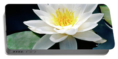 Beautiful Water Lily Capture Portable Battery Charger