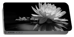 Beautiful Water Lily Reflections Portable Battery Charger