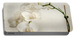 Beautiful White Orchid II Portable Battery Charger