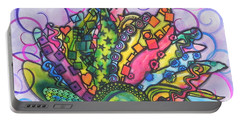 Portable Battery Charger featuring the painting Beauty Comes Out by Chrisann Ellis