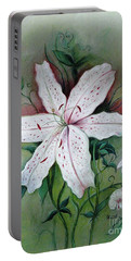 Portable Battery Charger featuring the painting Beauty For Ashes by Hazel Holland