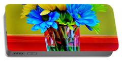 Beauty In A Vase Portable Battery Charger by Cynthia Guinn