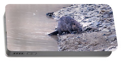 Beaver On Dry Land Portable Battery Charger by Chris Flees