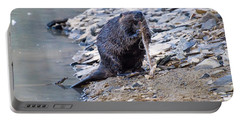 Beaver Sharpens Stick Portable Battery Charger by Chris Flees