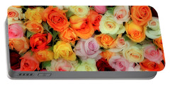 Bed Of Roses Portable Battery Charger by Tony Grider