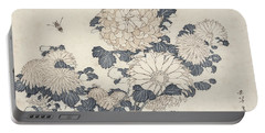 Bee And Chrysanthemums Portable Battery Charger