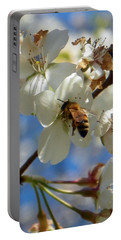 Bee And Pear Blooms Portable Battery Charger