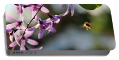 Portable Battery Charger featuring the photograph Bee Back by Greg Allore