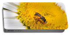 Bee Feeding On Pollen 1 Portable Battery Charger