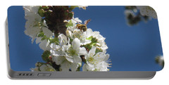 Bee On Cherry Blossoms Portable Battery Charger